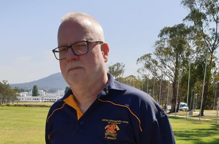 United Firefighters Union national secretary Greg McConville