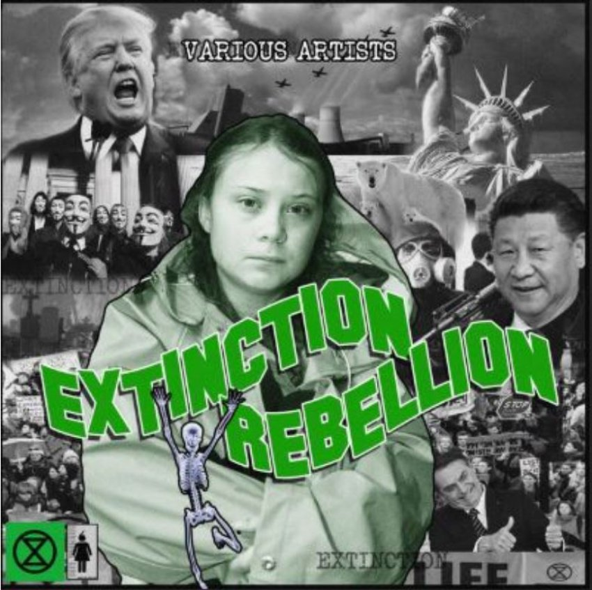 VARIOUS ARTISTS EXTINCTION REBELLION album artwork