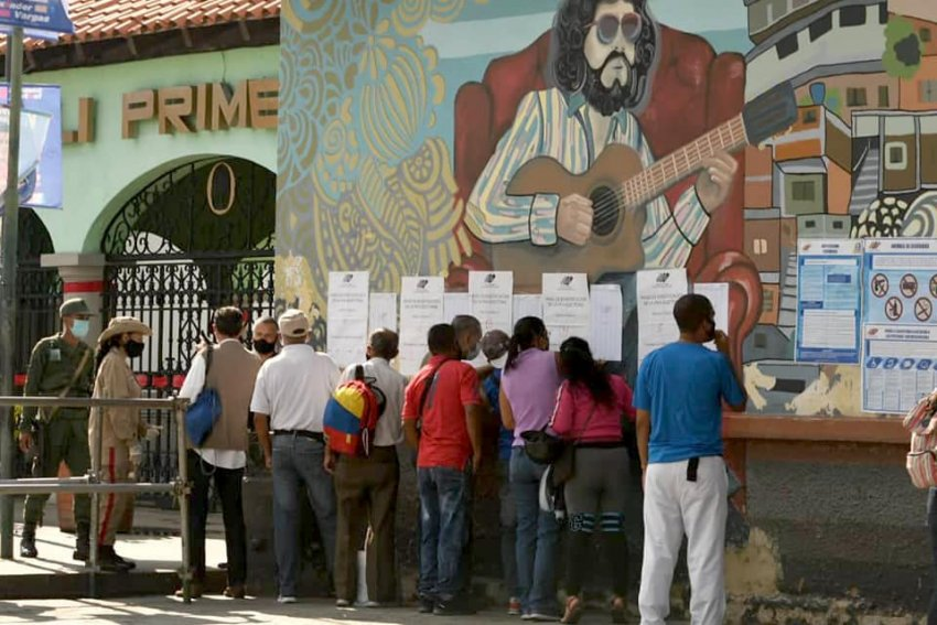 Voting in Venezuela's elections