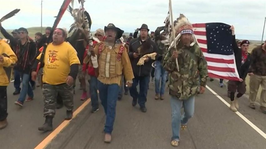 Protesters at Standing Rock. Many groups have stood with Standing Rock, from Black Lives Matter, the major environmental groups, to Palestinian youth and many more.