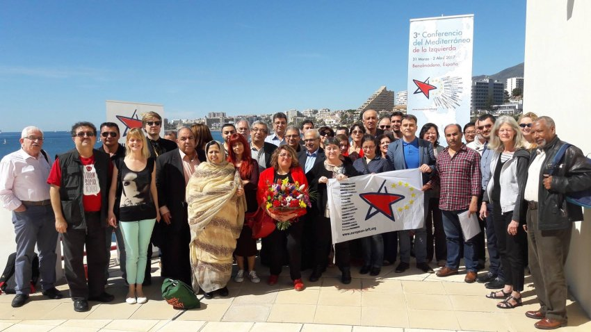 Participants at the Party of the European Left's Third Mediterranean conference in Malaga.