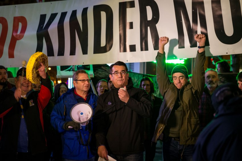 Angry protesters take to the streets of Vancouver after the approval of Kinder Morgan and other pipelines on November 29.