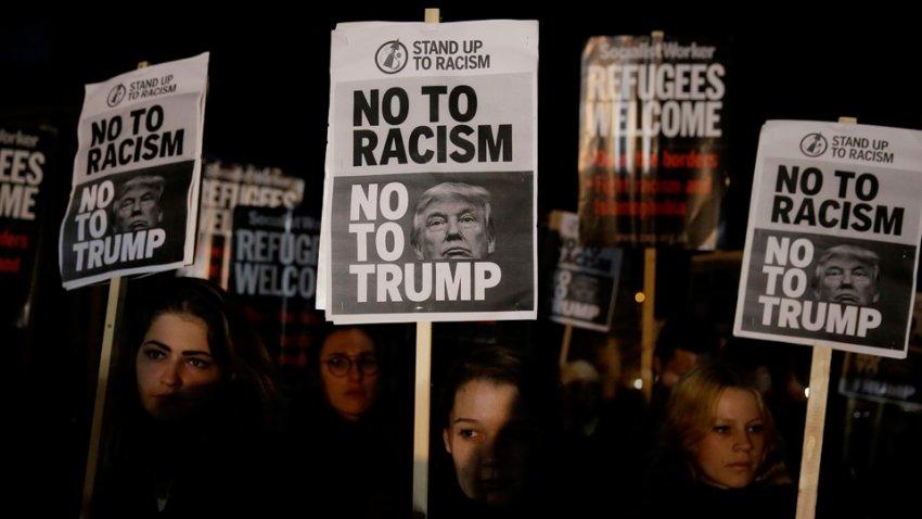 A London protest against Donald Trump.