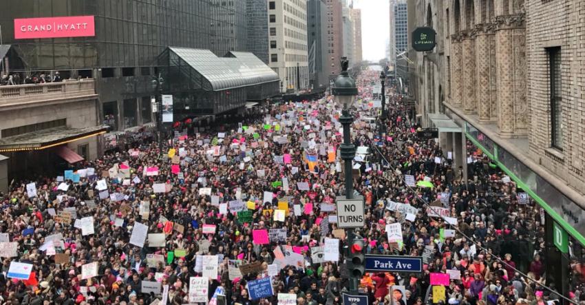 New York anti-Trump protest.