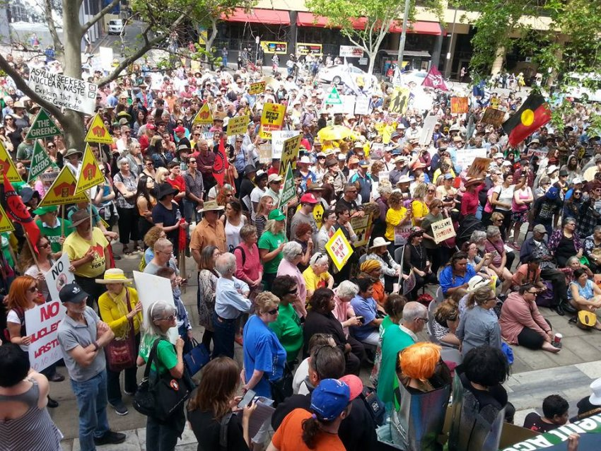 Thousands protest proposed nuclear waste dump