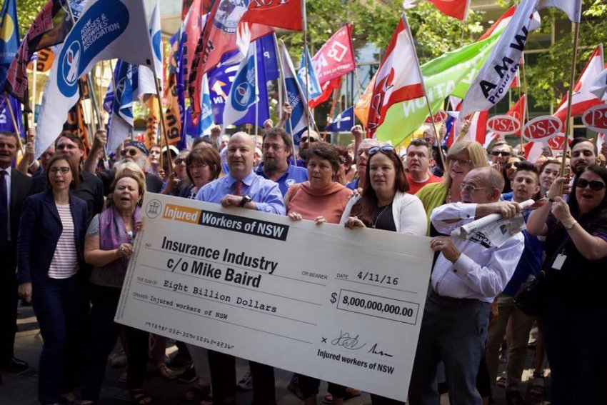 rally for workers comp