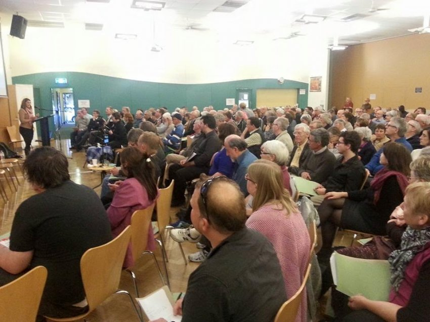 Crowd at a forum