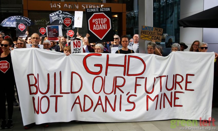 A protest against GDH in Brisbane on August 1