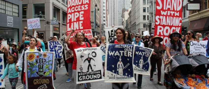 March against DAPL in San Francisco.