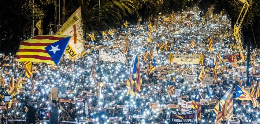 "November 11, 2017, Barcelona: ""Freedom for Political Prisoners"""
