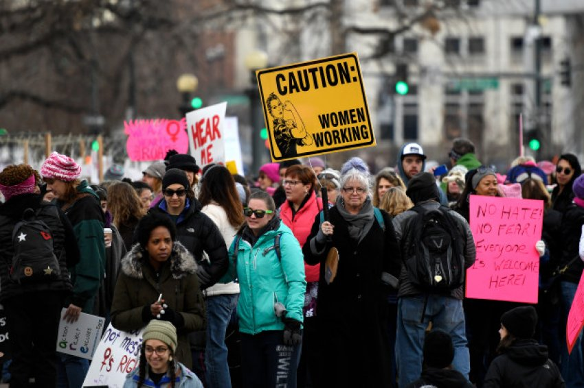 Women's March against Trump in Denver, Colarado on February 21.
