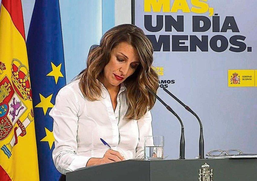 Spanish labour minister, Yolanda Díaz, of Unidas Podemos (Credit: EFE)