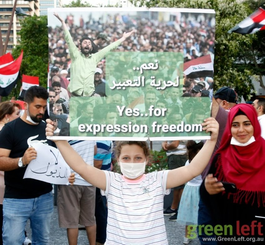 An Iraq solidarity protest in Brisbane on November 23.