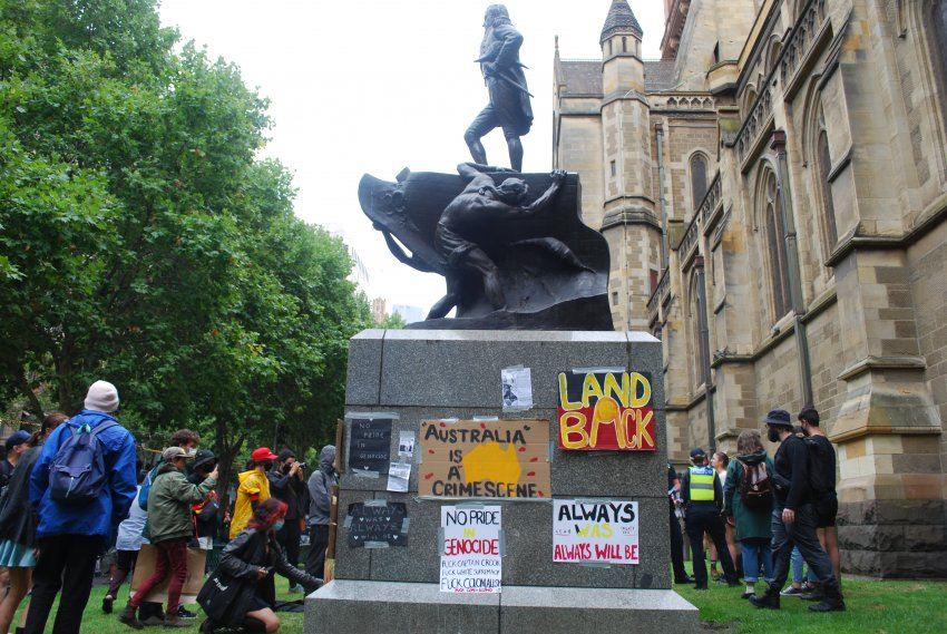 Melbourne Invasion Day 2021 protest. Photo: Chloe DS