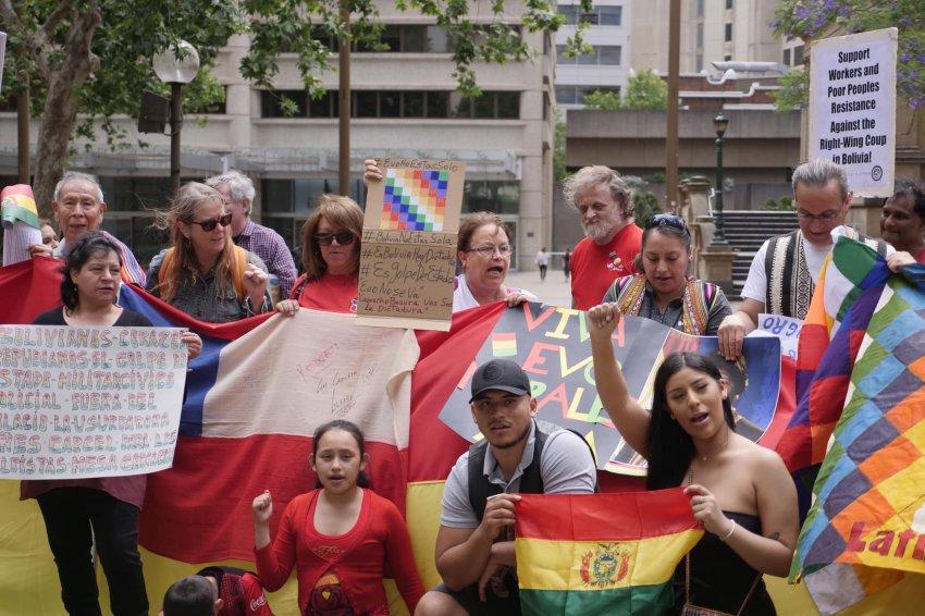 Bolivia solidarity protest in Sydney on November 17.
