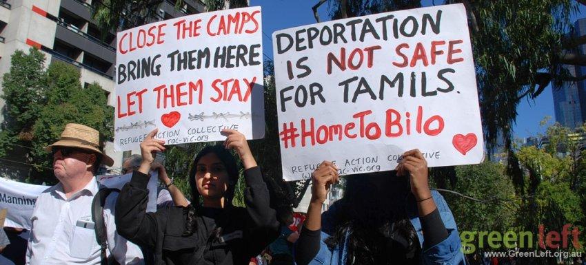 Deportations are not safe. Melbourne Palm Sunday. Photo: Chloe De Silva