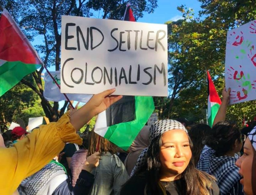 End settler colonialism, Sydney. Photo: Rachel Evans