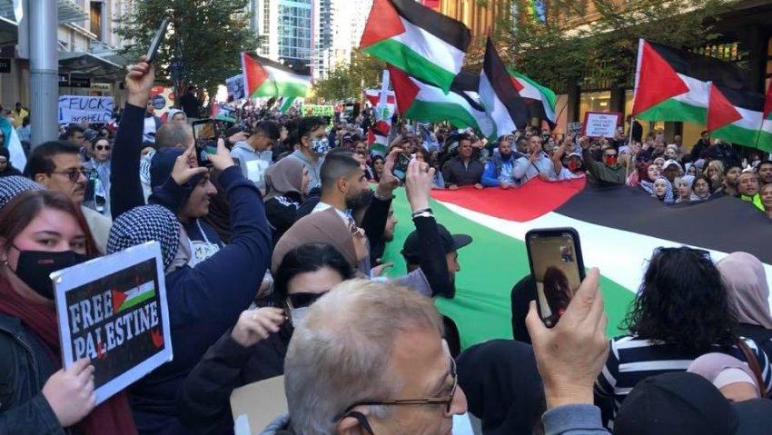 Free Palestine rally in Sydney