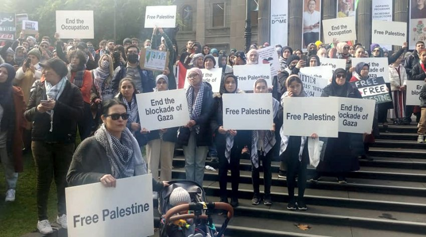 Free Palestine rally in Melbourne
