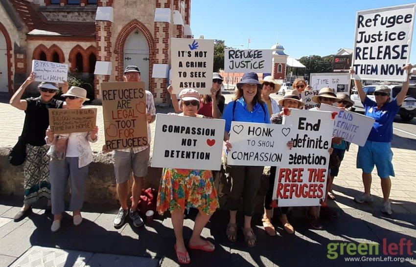 Fremantle vigil. Photo: Dawn Barrington