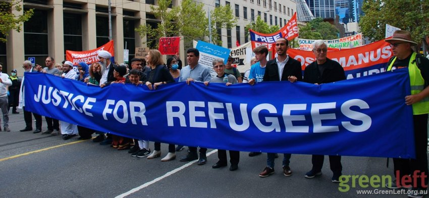 Justice for Refugees in Melbourne. Photo: Chloe de Silva