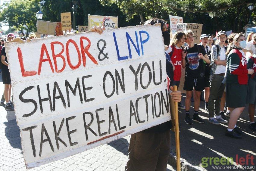 Shame on Labor and LNP, Brisbane. Photo: Alex Bainbridge