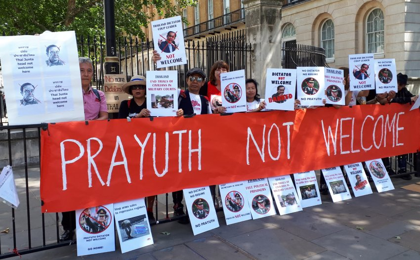 Protest against Prayut in London