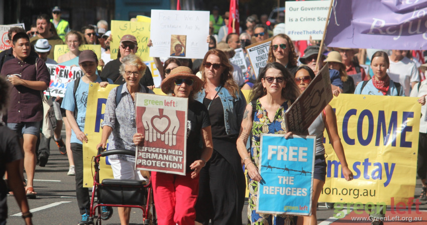 Marching in Sydney. Photo: Peter Boyle