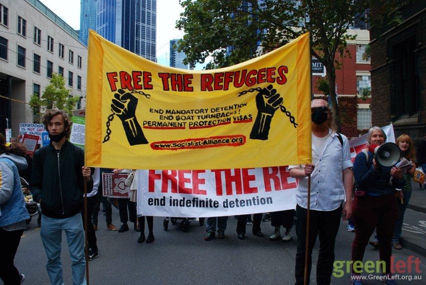 Free the Refugees in Melbourne. Photo: Chloe de Silva