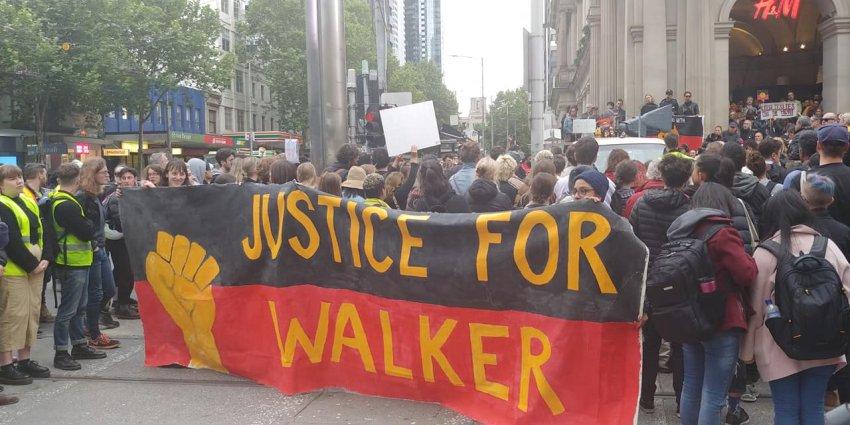 Justice for Kumanjayi Walker protest in Melbourne on November 13.