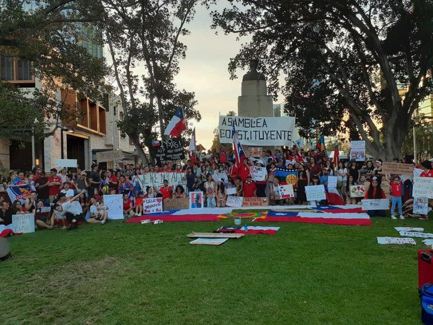 Chile solidarity rally Perth October 25.