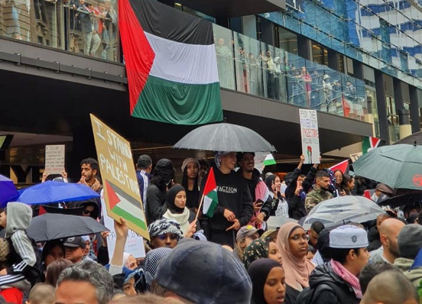Free Palestine rally, Perth