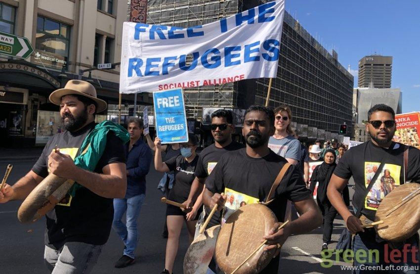 Free the Refugees in Sydney. Photo: Rachel Evans.