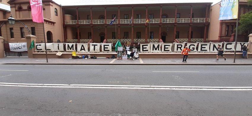 XR vigil outside NSW Parliament