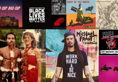 Political album sleeves June 2020