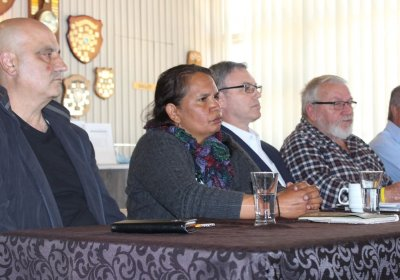 A media conference in Geraldton, Western Australia,  on October 2.