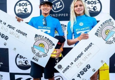 2018 photo showing Rio Waida (left) won twice as much as Zoe Steyn