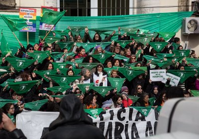 2018 abortion rights protest in Argentina. Photo: Lara Va/Wikimedia Commons CC: SA 4.0