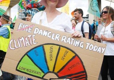 An Extinction Rebellion protest in Brisbane on October 12.