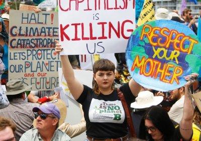 An Extinction Rebellion protest in Brisbane on October 11.