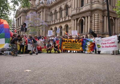 Bolivia solidarity protest in Sydney on November 17.