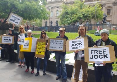 A rally in support of Jock Palfreeman in Melbourne on October 19.