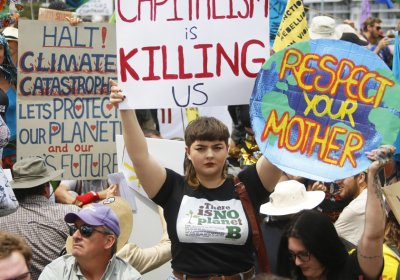 Capitalism is Killing us - Extinction Rebellion Action 11 October 2019 Brisbane