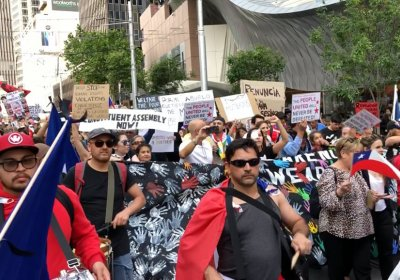 A Chile solidarity rally in Sydney on November 2.