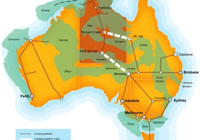 Proposed gas pipeline in the Northern Territory