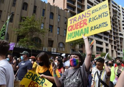 Pride in Protest in Sydney. Photo: Chloe de Silva
