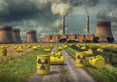 Nuclear power plant waste