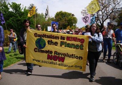 An Extinction Rebellion protest in Melbourne in October.