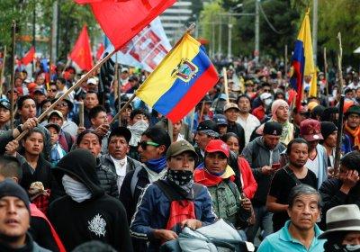 Protest against Moreno in Quito