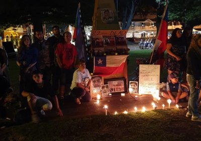 Chile solidarity protest in Fremantle on November 16.